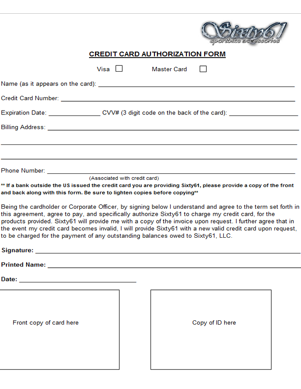 credit card authorisation form template australia - wholesale spiked sportbike parts dealers and distributors