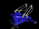 BLUE ANODIZED ADJUSTABLE REARSETS | YAMAHA YZF R6
