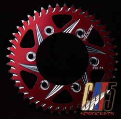 Vortex 251AZR-44 Red 44-Tooth Rear Sprocket