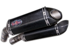 Ducati 848 / 1098 / 1198 Double Exhaust Performance Carbon Fiber Pipe by  Voodoo